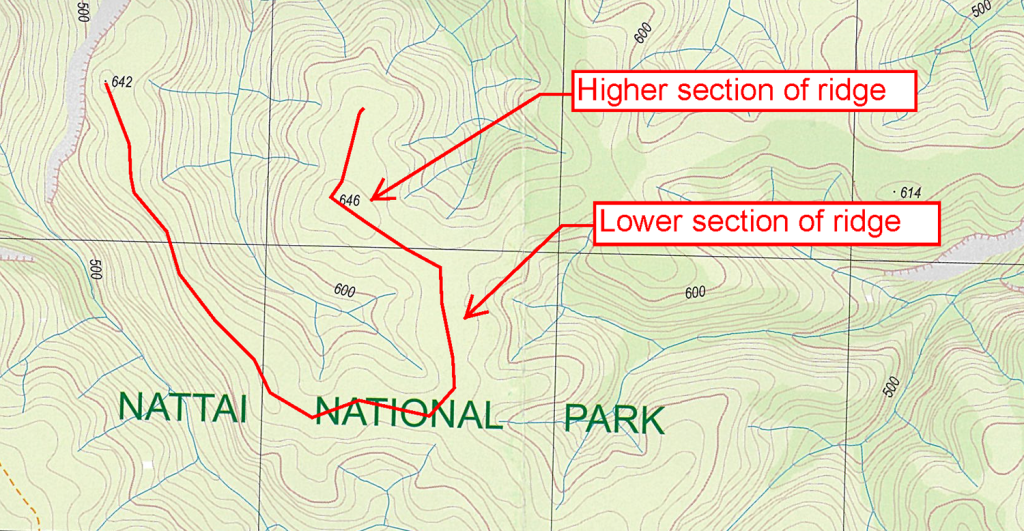 Interpreting map features – Bushwalking 101 on depression mind map, contour lines topographic map, depression on maps earth science, depression on terrain map, orienteering topographic map,